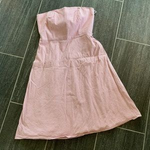 Ann Taylor Loft  red seersucker dress